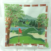 Peggy Karr Golf Platter Mens Gift